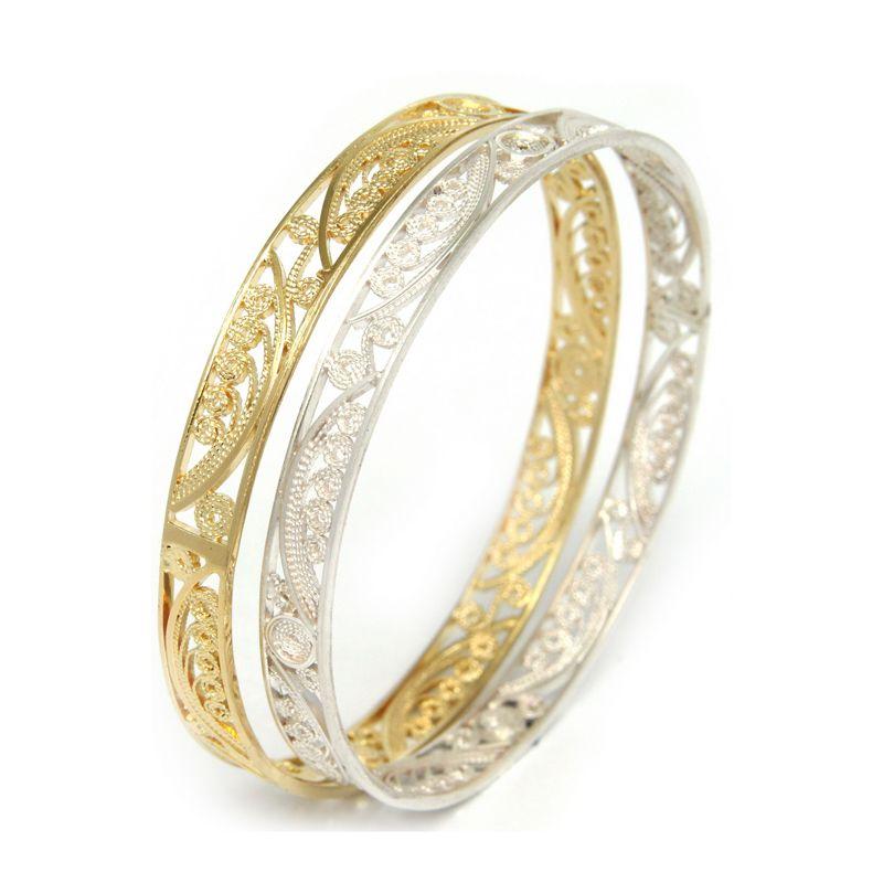 882a2ddd07a3 brazalete delgado de filigrana - joyas en plata y oro peruano ...
