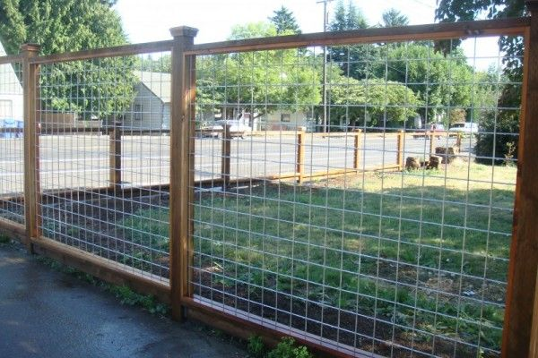 Wood Frame Wire Fence Exterior Pinterest Fence Wire