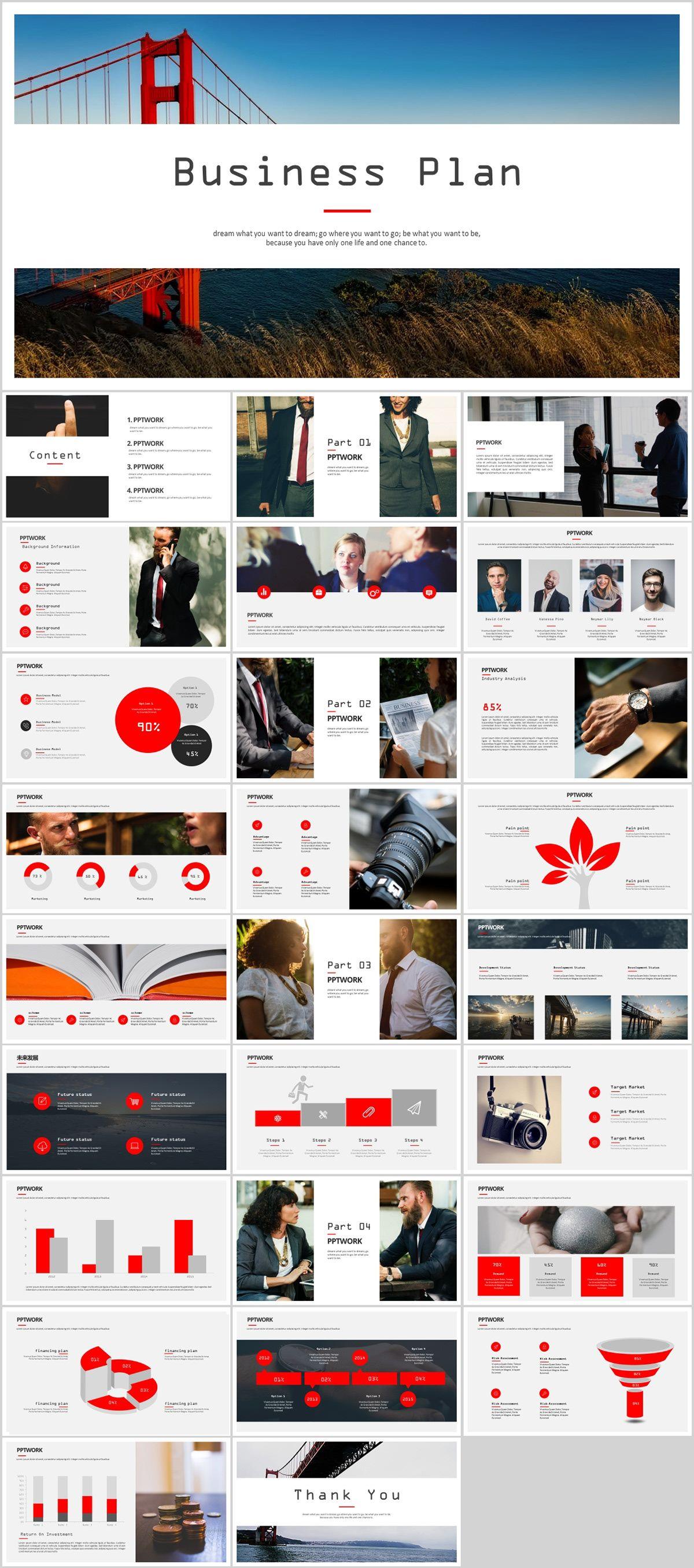 27 best business plan powerpoint template on behance powerpoint