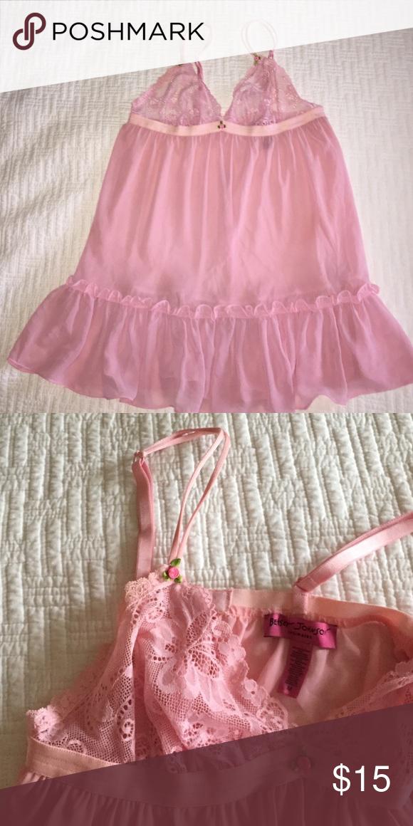 BETSEY JOHNSON pink slip BETSEY JOHNSON pink slip - size Medium Betsey Johnson Intimates & Sleepwear Chemises & Slips
