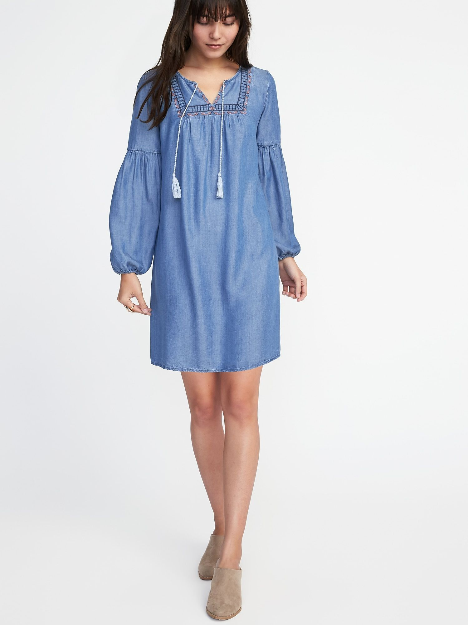Old Navy - Embroidered Tencel® Shift Dress for Women  213316fa52