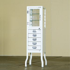 Superbe Dulton Retro Metal Finishings   Dentist Cabinet 5 Drawers
