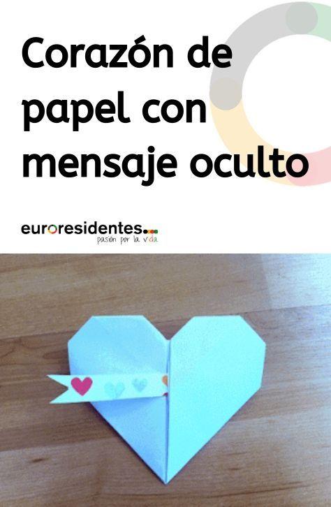 Photo of Corazón de papel con mensaje oculto