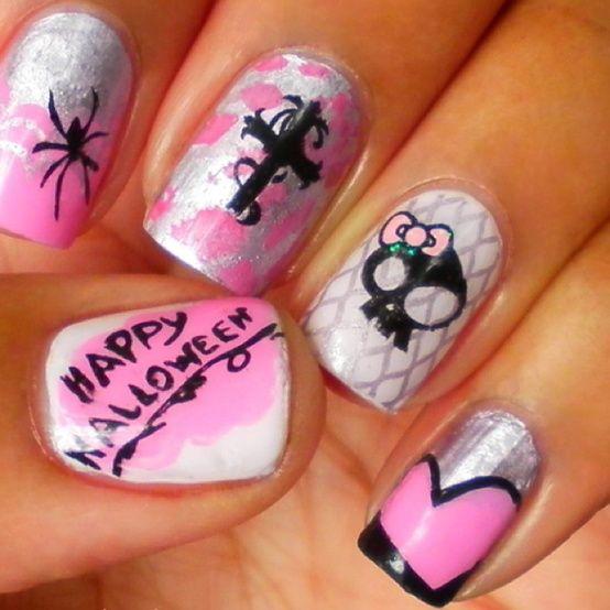Cute Punk Halloween Nails