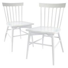 Windsor Dining Chair White Set of 2 Thresh Tar