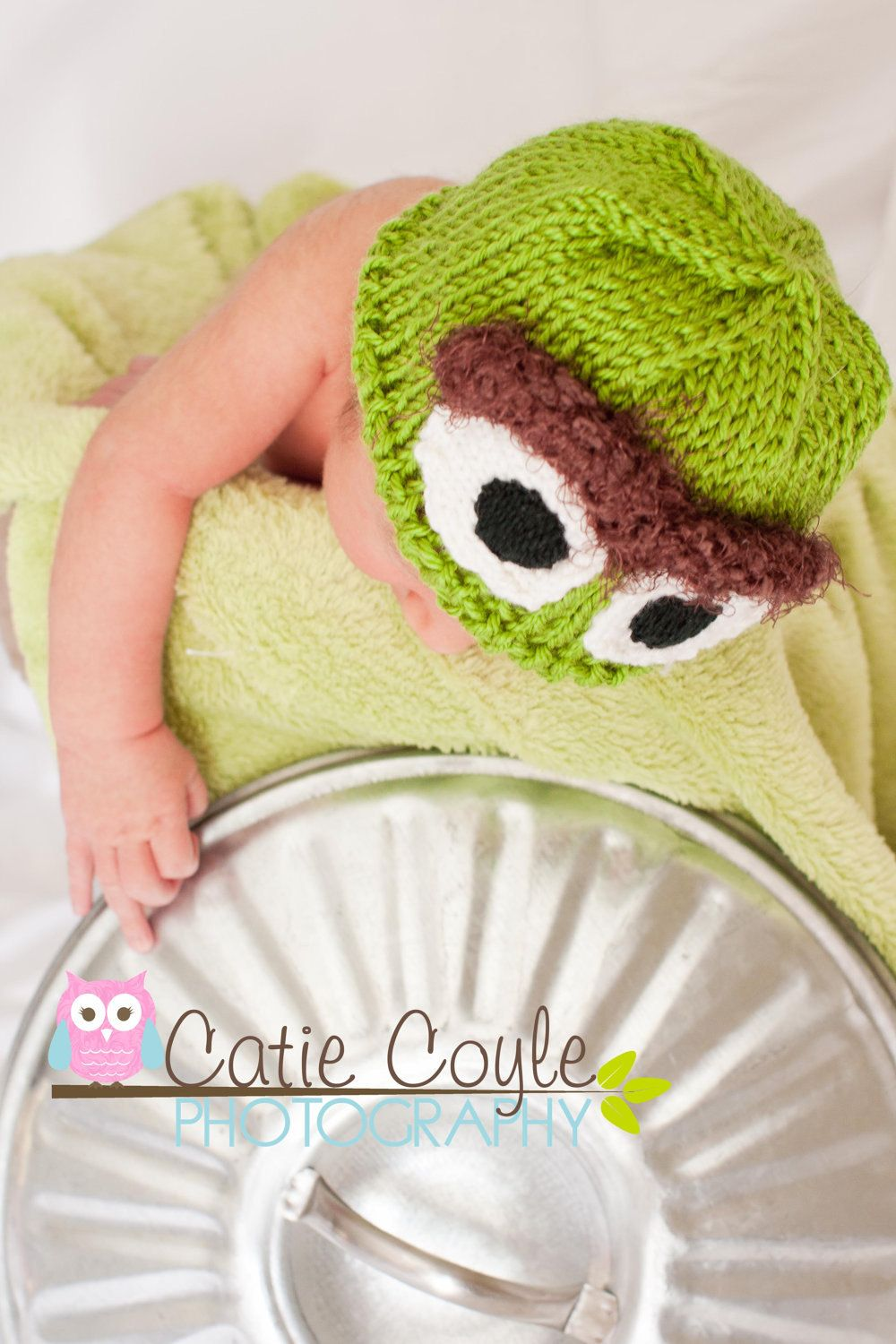 5cad5434564 Newborn Oscar the Grouch baby hat FREE SHIPPING.  30.00