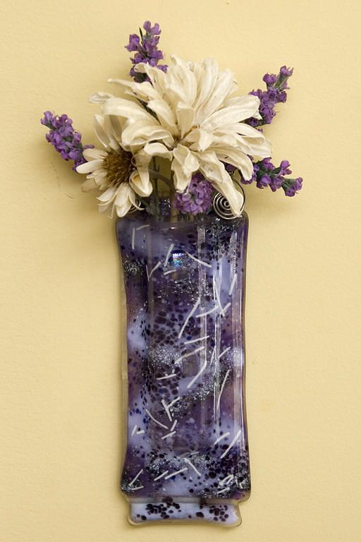 Purple Passion Glass Wall Vase Glass Art | Fused Glass Inspirations ...