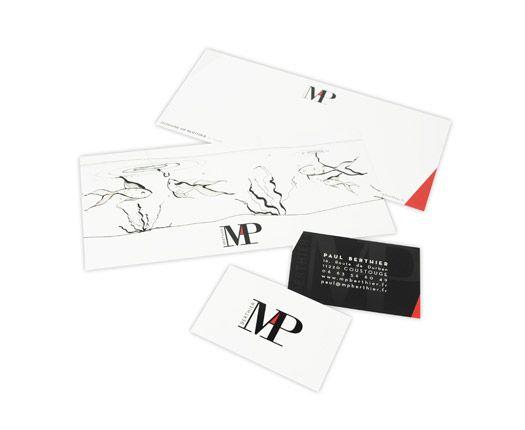 Carte de visite, carte de correspondance - MP Berthier.