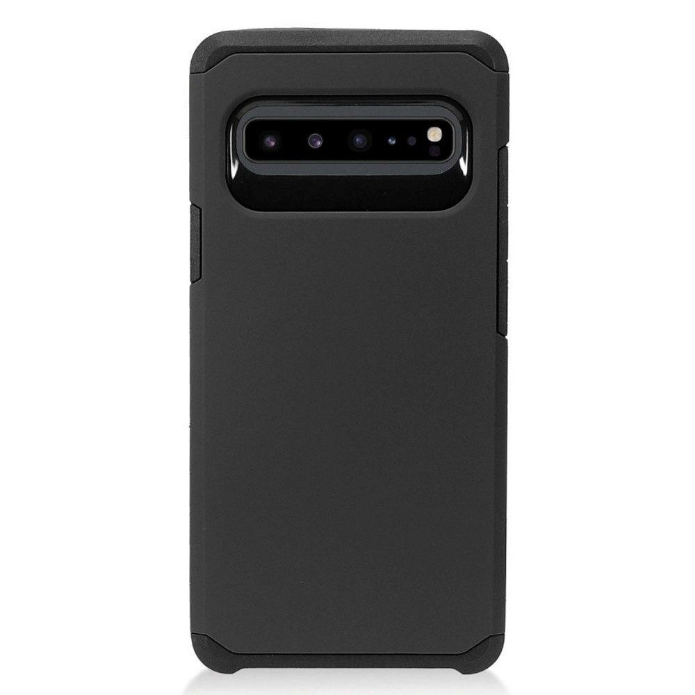 Insten Hard Hybrid TPU Rubber Cover Case For Samsung Galaxy S10 5G - Black by Eagle