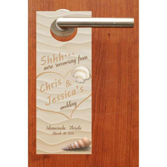 20 beach wedding door hanger signs for wedding welcome bags hotel guest hospitality gift bags wedding favors goody bag