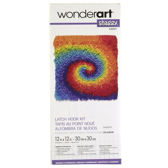 Wonderart Shaggy Latch Hook Kit Tie Dye Products Latch