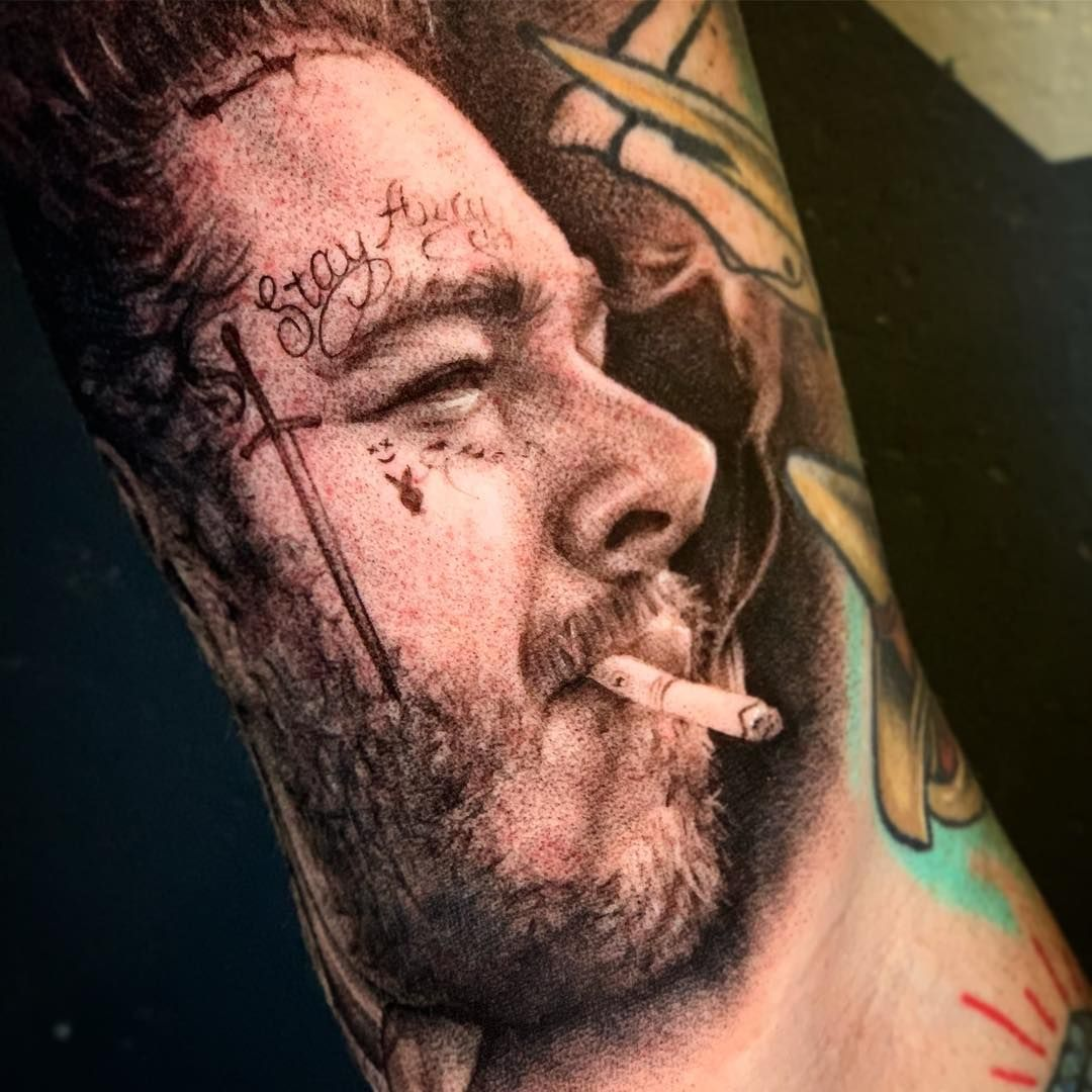 Post Malone Portrait Tattoo Portraits People Face