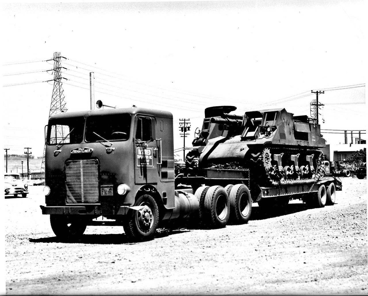 Coe White Freightliner Classic With A Tank On Wagon