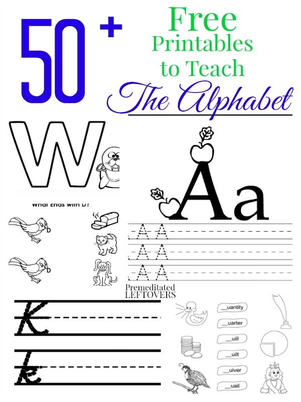 Looking for free homeschooling resources for teaching the letters ...