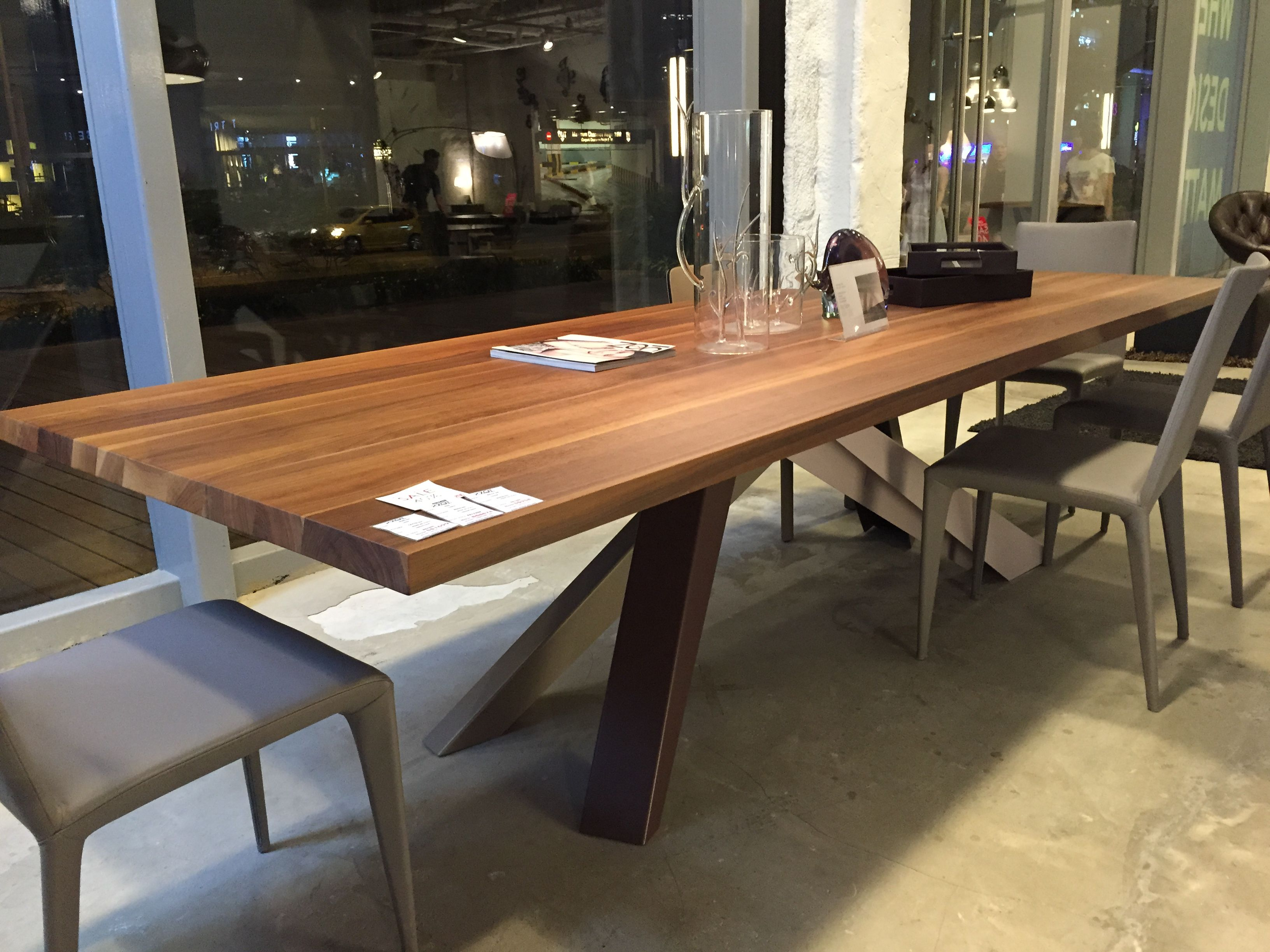 Xzqt Solid American Walnut Dining Table, Walnut Dining Room