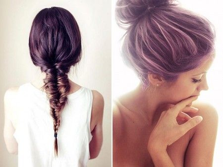 color your hair this summer! purple