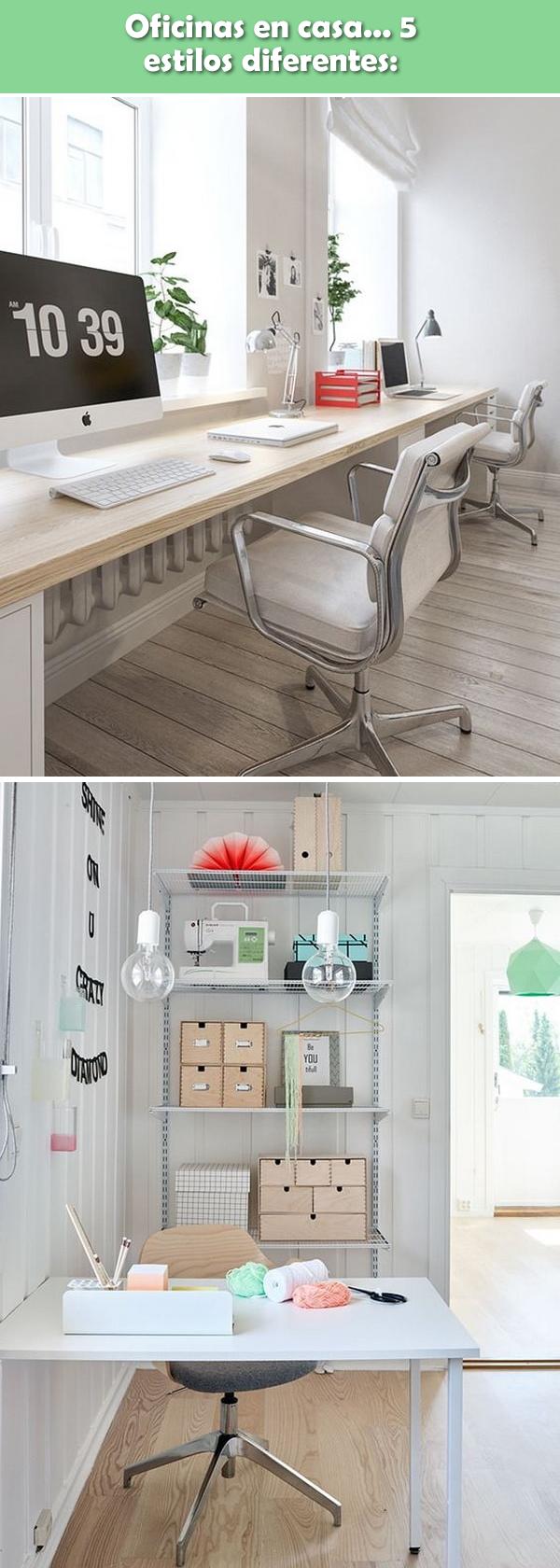 Diferentes estilos para una oficina en casa. Ideas para oficinas en casa.