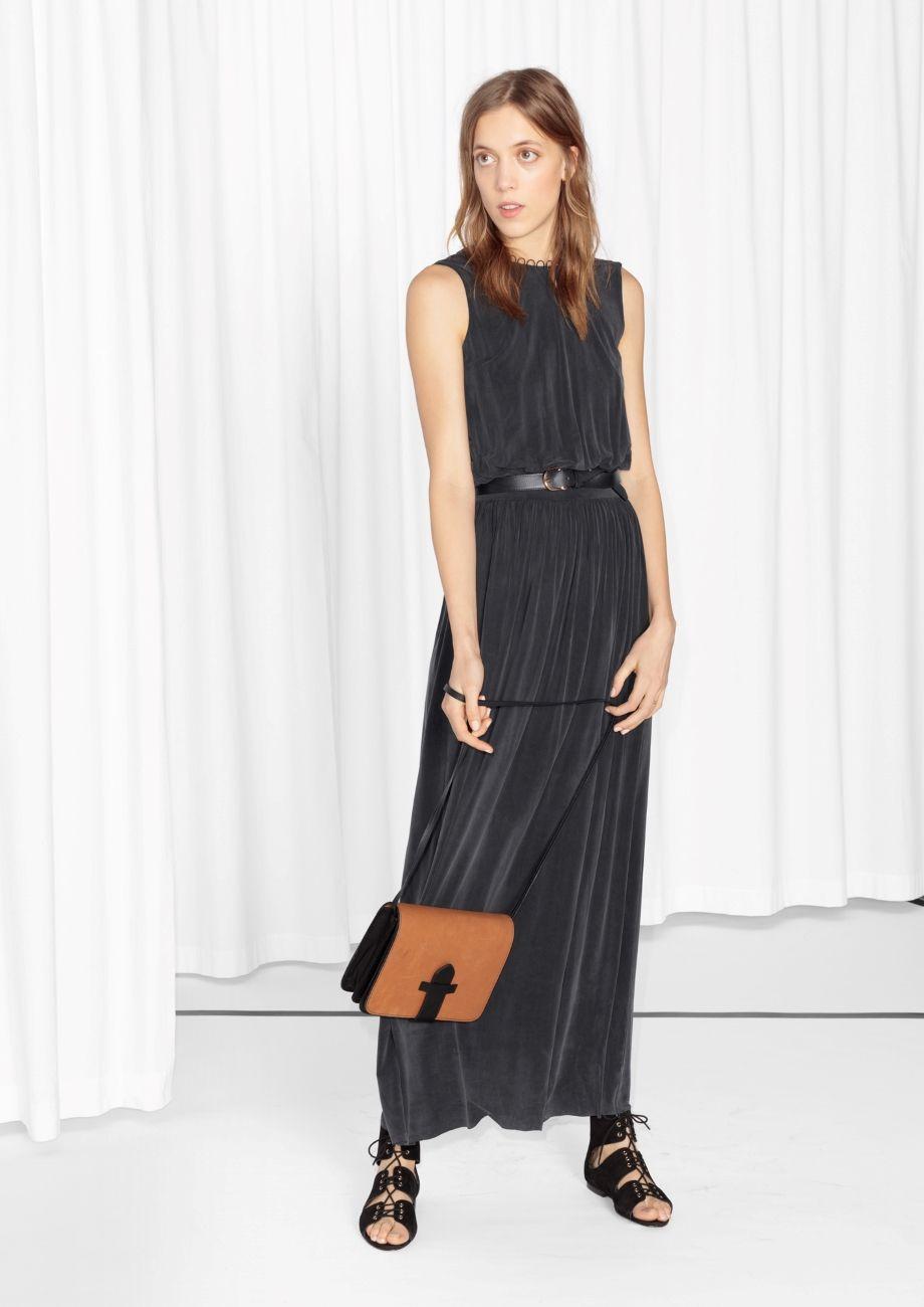 Other Stories Cupro Maxi Dress Maxi Dress Dresses Black Maxi Dress