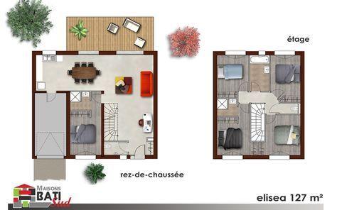 Modèle Eliséa Plan maison Pinterest