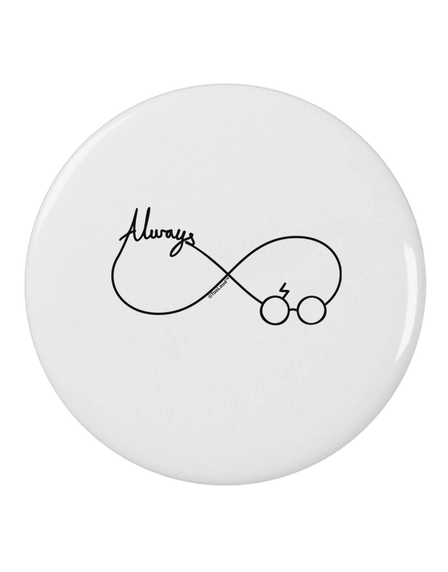 Always Infinity Symbol 2 25 Round Pin Button Harry Potter Tattoo Unique Harry Potter Symbols Harry Potter Phone