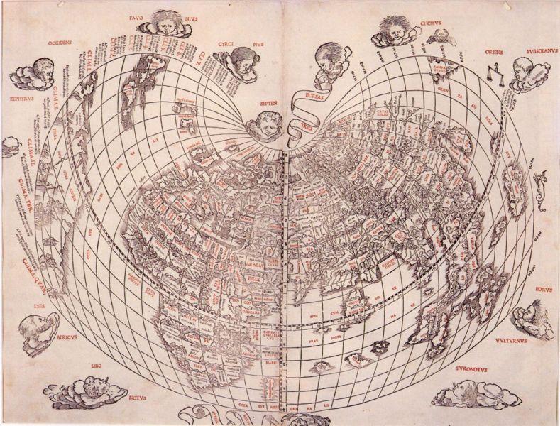 Sylvanus world map, 1511