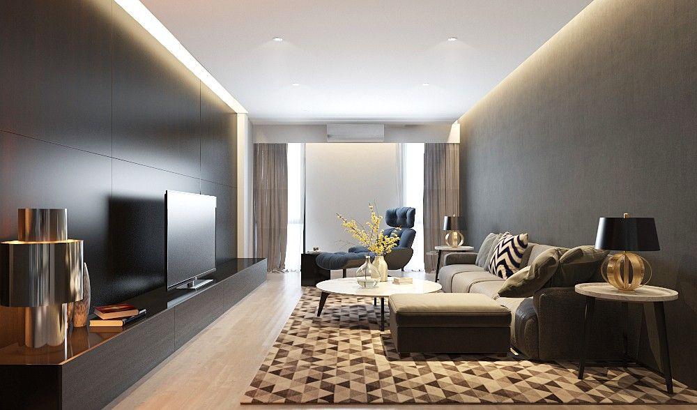 Small Living Room Sofa Residential Interior Design Hong Kong