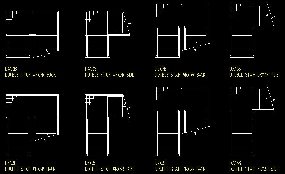 Drawing Lines In Cad : Autocad architectural symbol blocks stairs pinned by