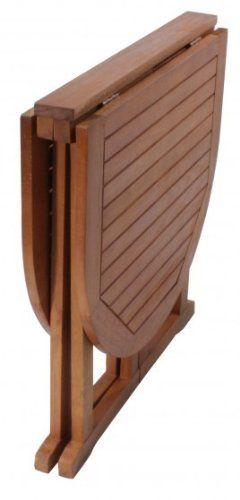 e3fc4926 benelando plegable mesa de jardín de madera de eucalipto: Amazon .