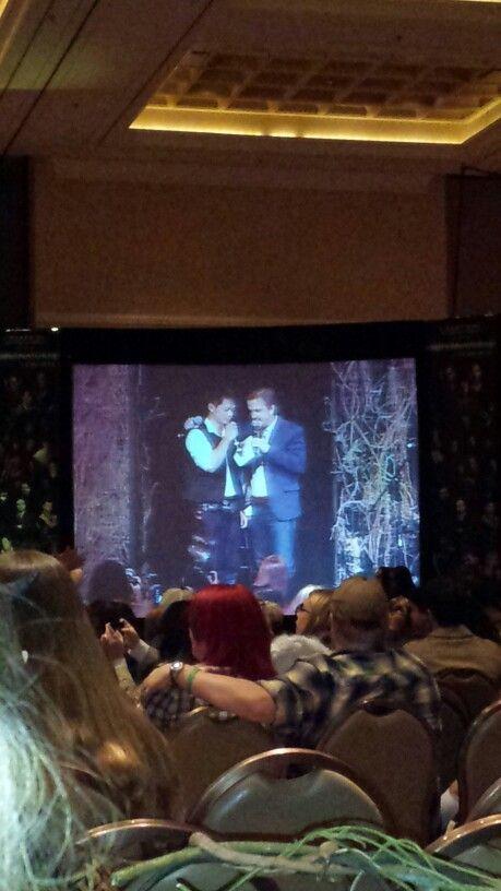 Osric and Richard at Osric's panel.