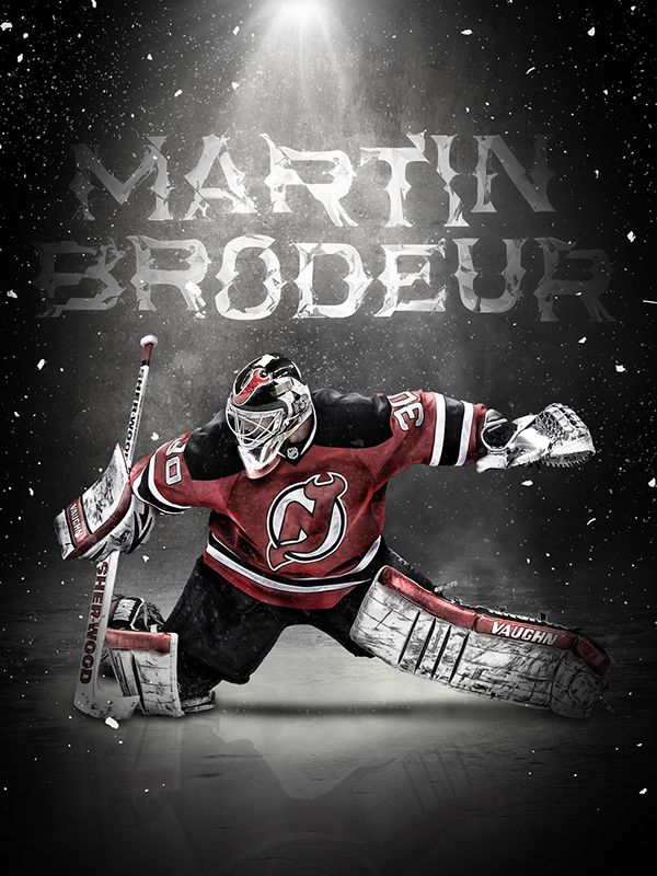 Martin Brodeur On Behance Design Sports Martin Brodeur