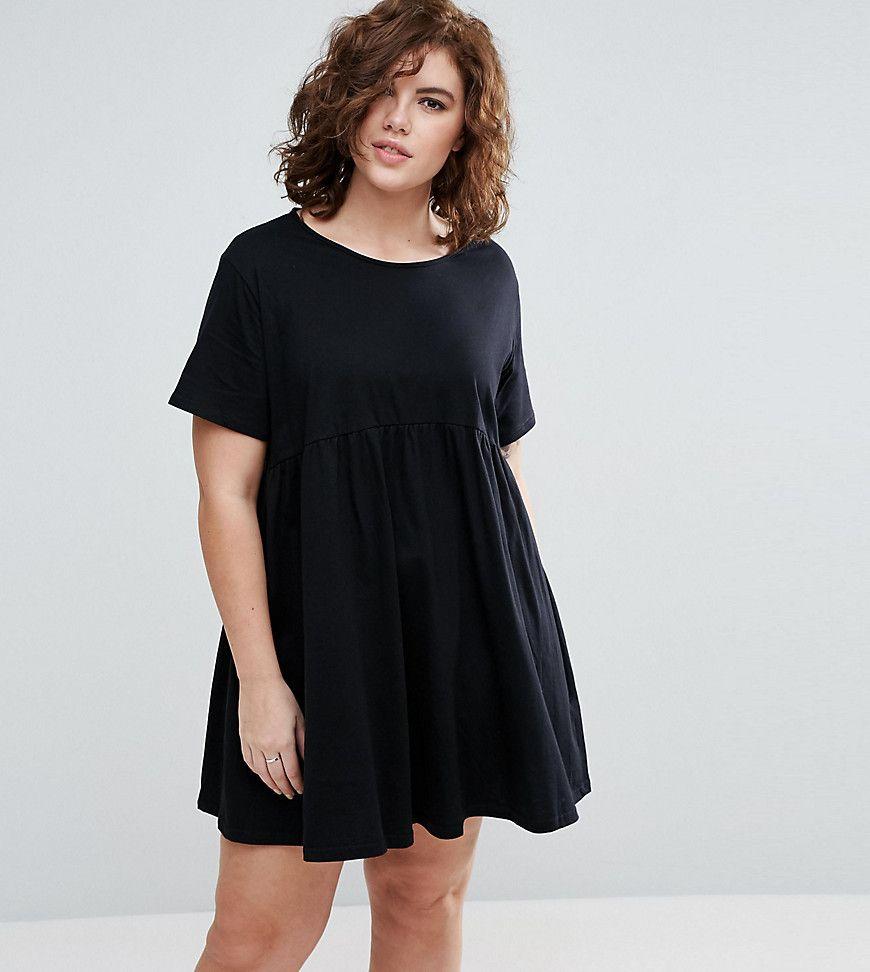 7e242f5e259c ASOS CURVE Ultimate Smock Dress - Black | Short Dresses in 2019 ...