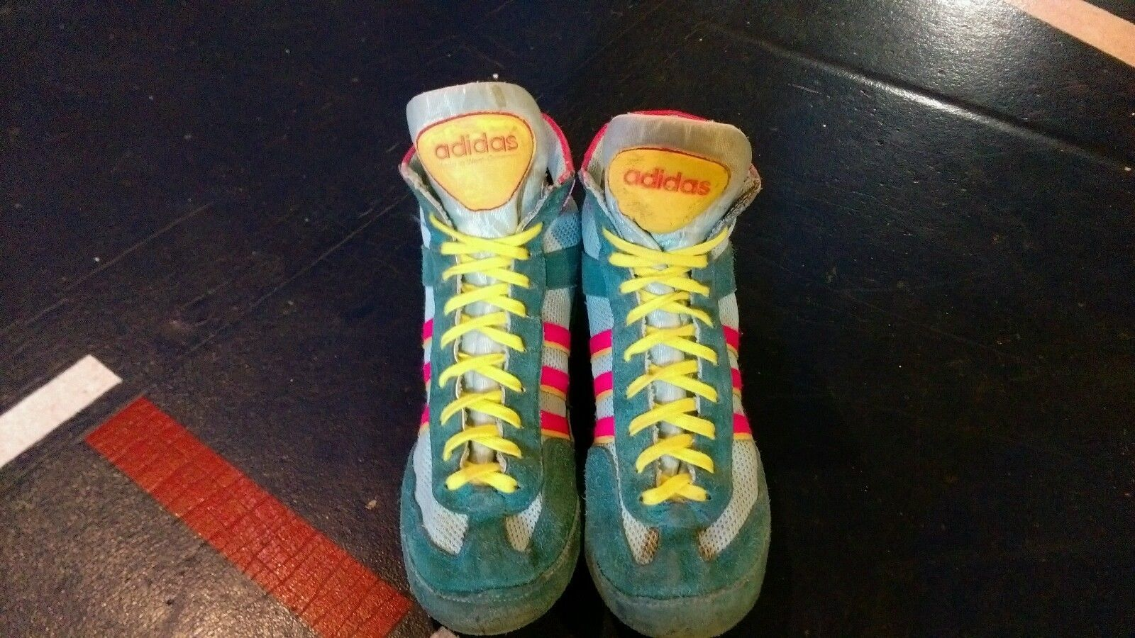 arrives e11b9 b87db Rare Adidas 88 Teal combat speed wrestling shoes   eBay