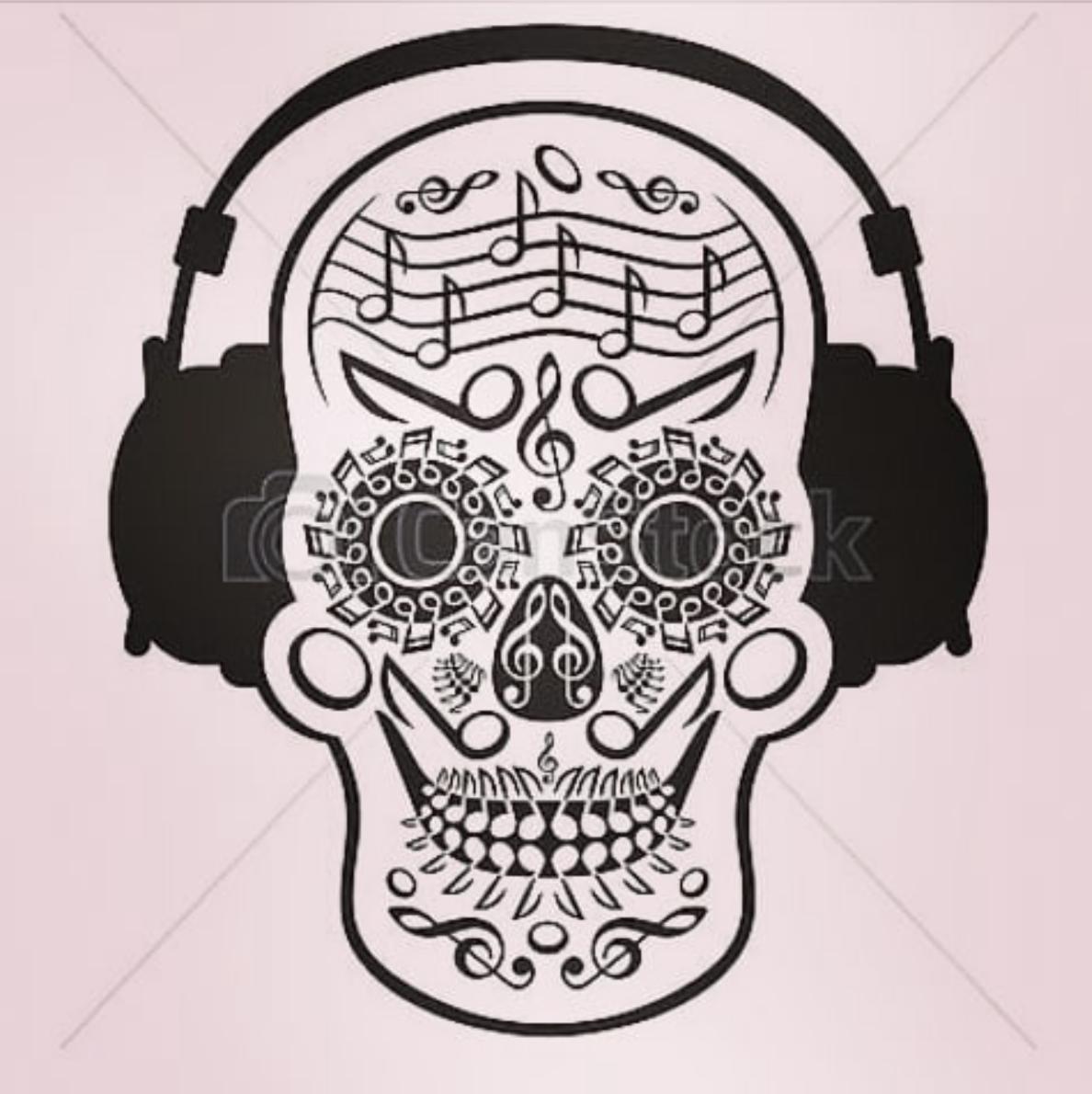 c16e5711c5f5e Calavera musical! | Sugar skull art.... | Sugar skull art, Sugar ...