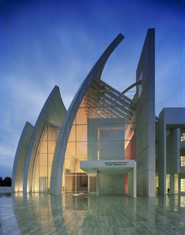 Modern Architecture Rome iconic modern architecture-jubilee church in romerichard meier