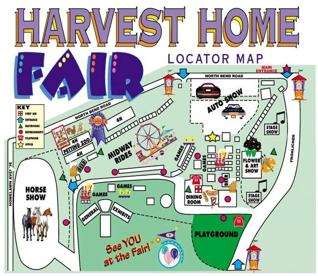 Harvest Home Fairgrounds Map