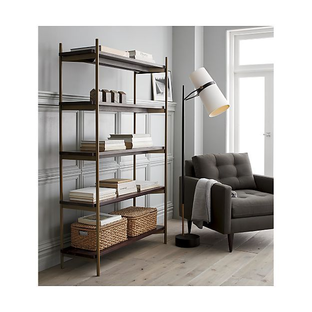 Riston Floor Lamp + Reviews   Crate and Barrel   Home ... on Riston Floor Lamp  id=79583