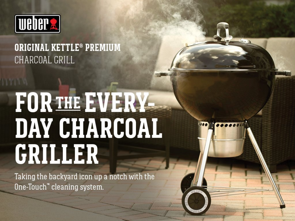 Amazon Com Weber Original Kettle Premium Charcoal Grill 22 Inch Black Garden Outdoor Charcoal Grill Charcoal Grilling