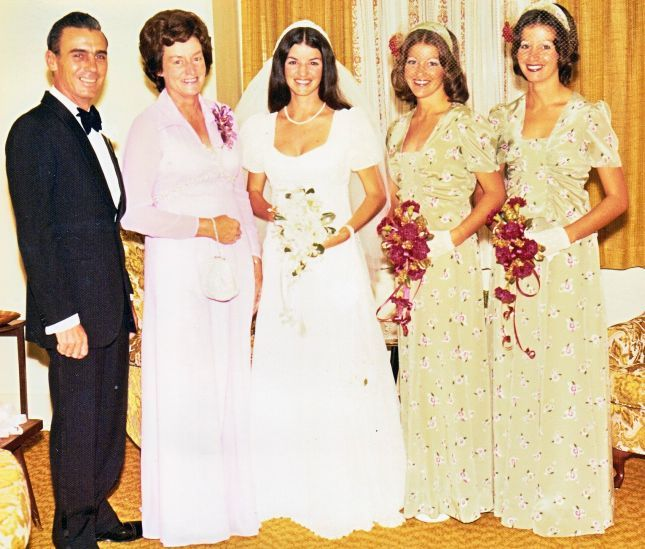 Mr. & Mrs. Scott Phillips Wedding Photo 1975
