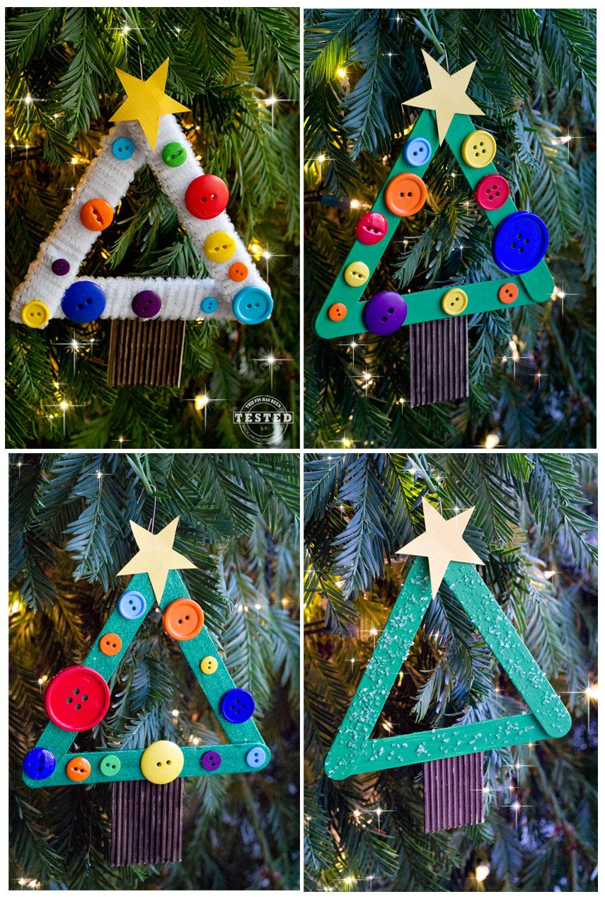 DIY Kids Christmas Tree Ornament Kids christmas