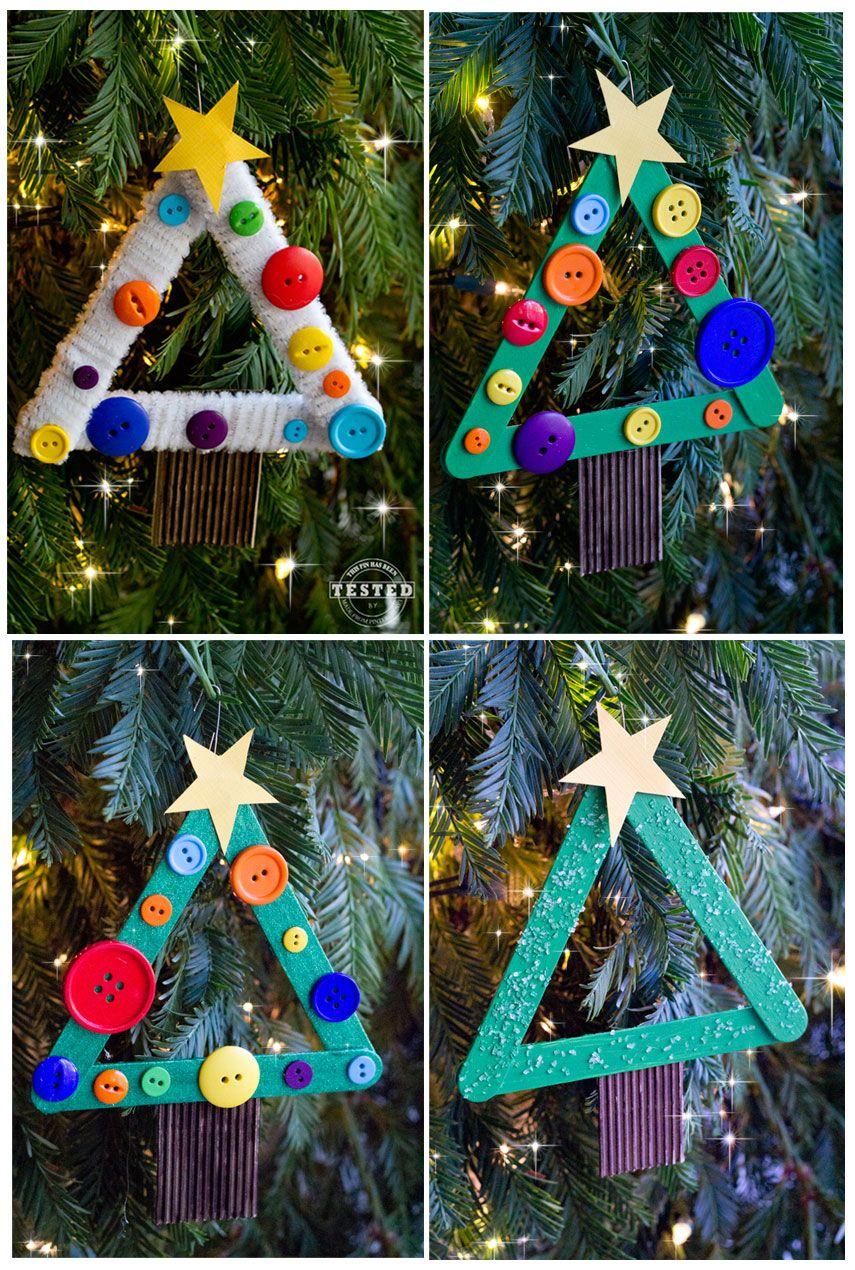 DIY Kids Christmas Tree Ornament Kids christmas