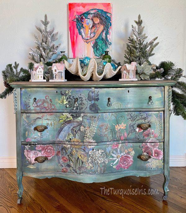 Bohemian dresser, for sale! #theturquoiseiris