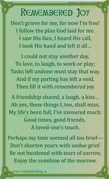 Irish Poem Re Death Sayings Pinterest Funeral Poems Poems And Stunning Famous Irish Quotes About Life