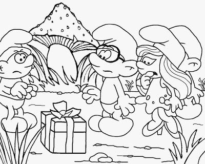 Mushroom house smurf party simple ideas fun coloring pages for ...