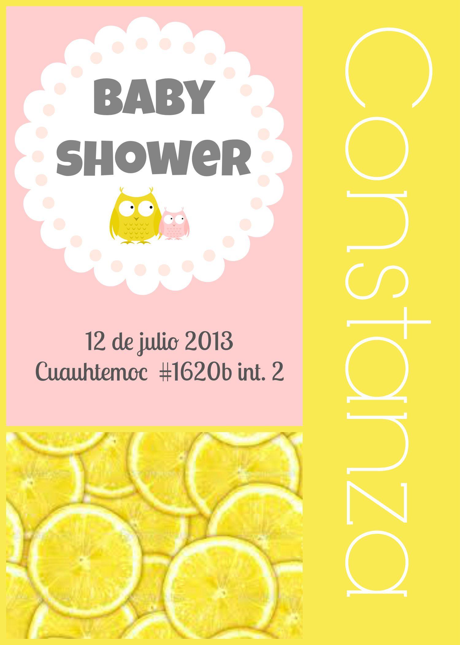 la invitacion para constanza Baby Shower Baby girl Vania Elas
