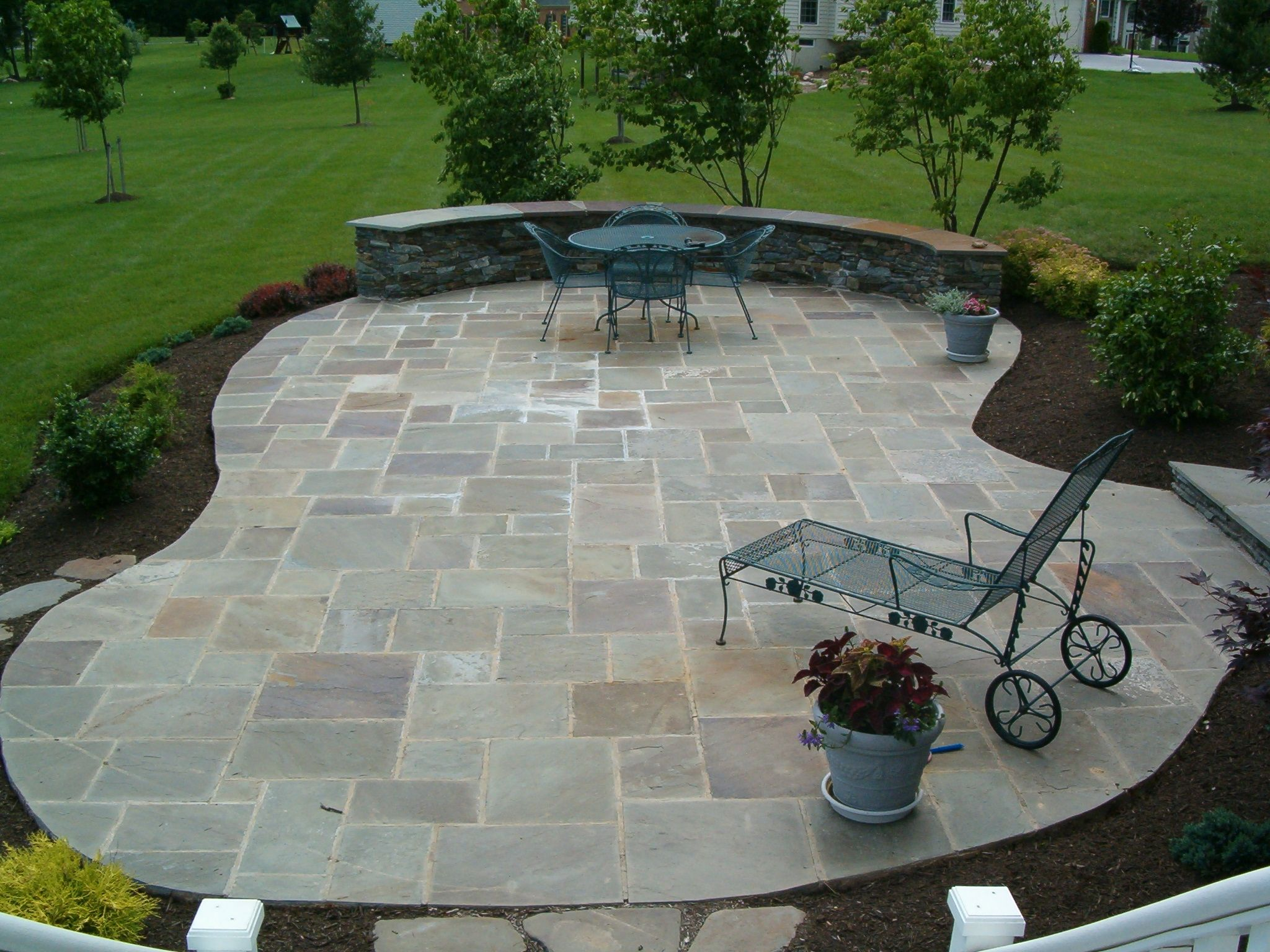 Ordinaire Stone Patio Designs Home Exterior Design Ideas With Striking Inspirational Stone  Patio Design Ideas For Garden