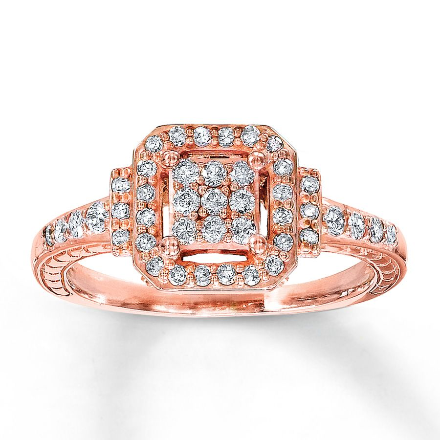 kays jewelry wedding rings Kay Jewelers rose gold ring my other Christmas present I seriously need a