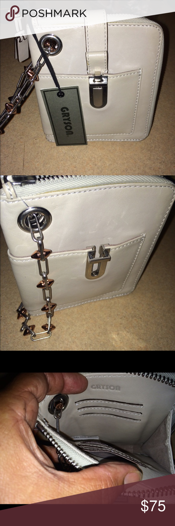 Gryson Calf Leather Wristlet Here is a Gryson Calf Leather Wristlet. It is new with tag Gryson Bags Clutches & Wristlets