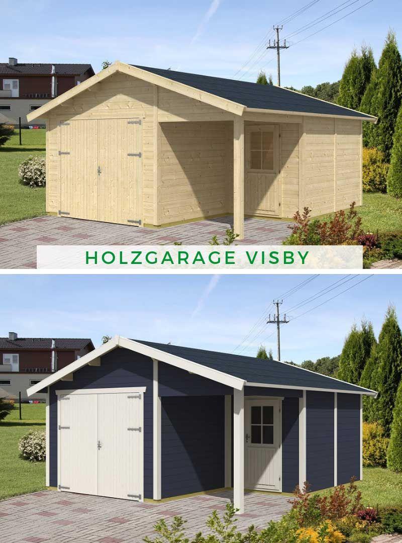 Holzgarage Visby28 2 (mit Bildern) Holzgarage