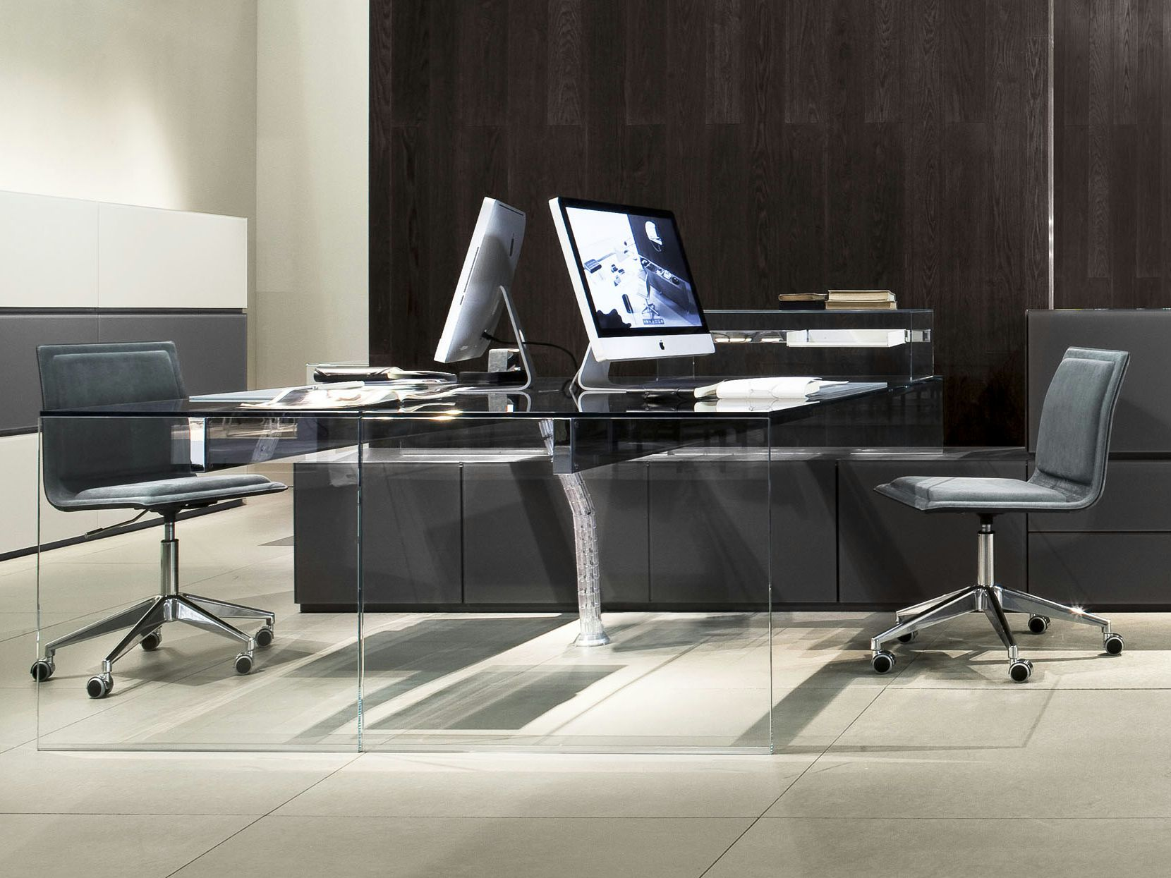 Crystal Writing Desk Air 1 Up Collection By Gallotti Radice Design Pinuccio Borgonovo