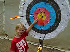 We love helping our campers reach their targets on the archery range!